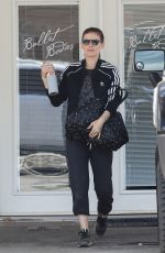 Pregnant KATE MARA Leaves a Gym in West Hollywood 04/02/2019