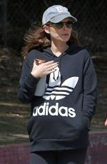 Pregnant KATE MARA Out and About in Los Angeles 04/04/2019