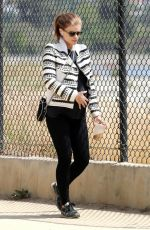 Pregnant KATE MARA Out and About in Los Angeles 04/15/2019