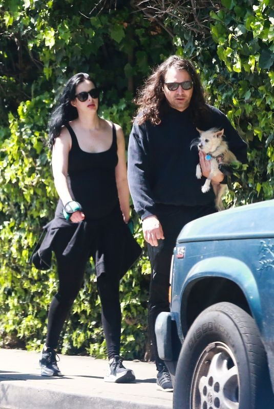 Pregnant KRYSTEN RITTER and Adam Granduciel Out in Hollywood 04/06/2019