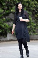 Pregnant KRYSTEN RITTER Out for Coffee in West Hollywood 04/04/2019