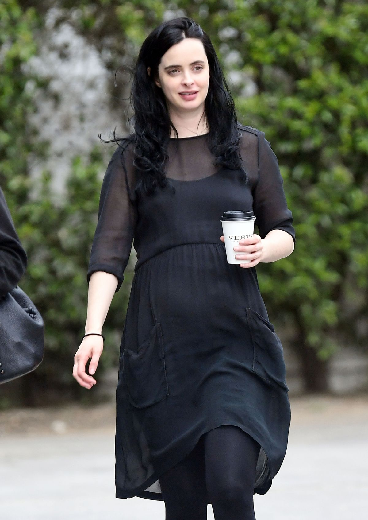 Pregnant KRYSTEN RITTER Out for Coffee in West Hollywood ...