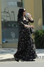 Pregnant KRYSTEN RITTER Out for Lunch in Los Angeles 04/13/2019
