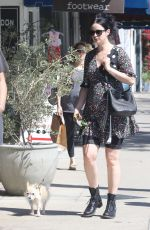 Pregnant KRYSTEN RITTER Out wuth Her Dog in Studio City 04/19/2019
