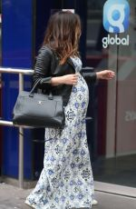 Pregnant MYLEENE KLASS Arrives at Global Radio in London 04/06/2019