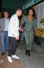PRIYANKA CHOPRA and Nick Jonas & at Dan Tana
