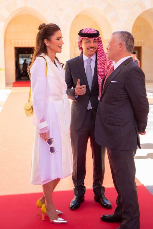 QUEEN RANIA Receives Italian President Sergio Mattarella in Amman 04/10/2019