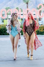 RACHEL MCCORD and CJ LANA PERRY at Coachella Festival in Indio 04/13/2019