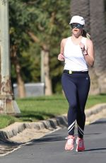 REESE WITHERSPOON Out Jogging in Brentwood 03/31/2019