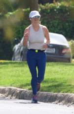 REESE WITHERSPOON Out Jogging in West Hollywood 04/07/2019
