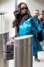 RIHANNA at JFK Airport in New York 04/11/2019