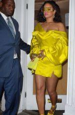 RIHANNA Leaves Fenty Beauty Influencer Event in London 04/02/2019
