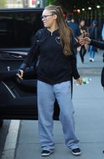 RONDA ROUSEY Arrives at Late Show with Stephen Colbert in New York 04/17/2019