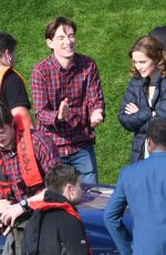 ROSE BYRNE and Domhnall Gleeson on the Set of Peter Rabbit 2 in Richmond 04/01/2019