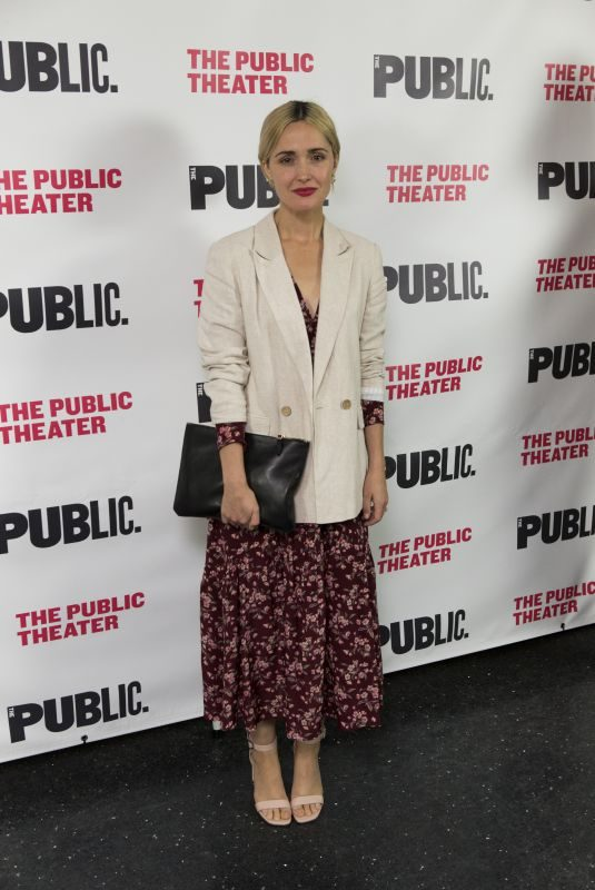 ROSE BYRNE at Public Theaters Socrates Opening Night in New York 04/16/2019