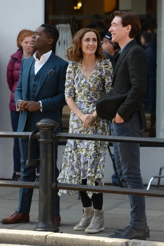 ROSE BYRNE, David Oyelowo and Domhnall Gleeson on the Set of Peter Rabbit 2 in Richmond 03/31/2019
