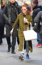 ROSE LESLIE Out and About in New York 04/02/2019
