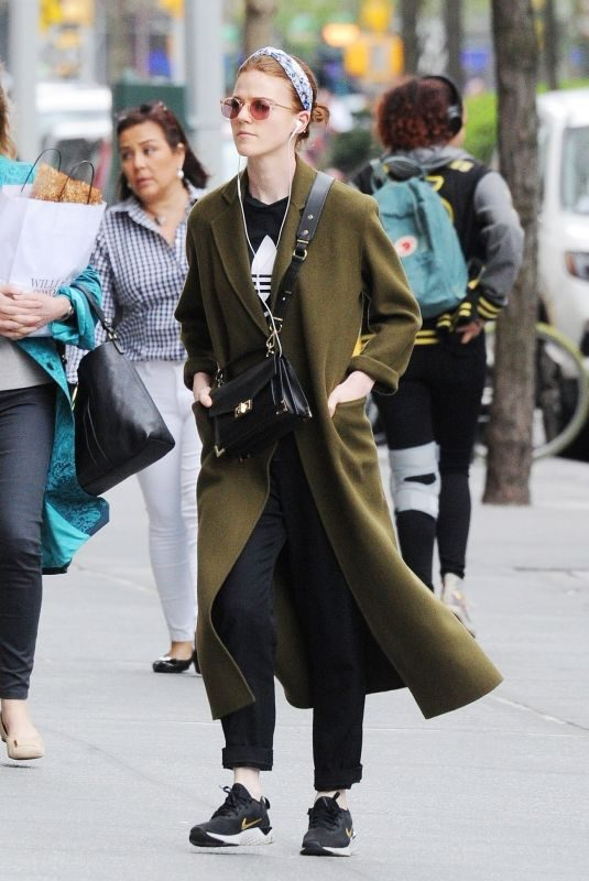 ROSE LESLIE Out in New York 04/08/2019