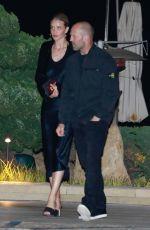 ROSIE HUNTINGTON-WHITELEY and Jason Statham at Nobu in Malibu 04/12/2019