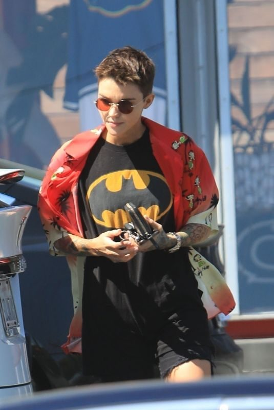 RUBY ROSE Leaves a Gym in Los Angeles 04/17/2019