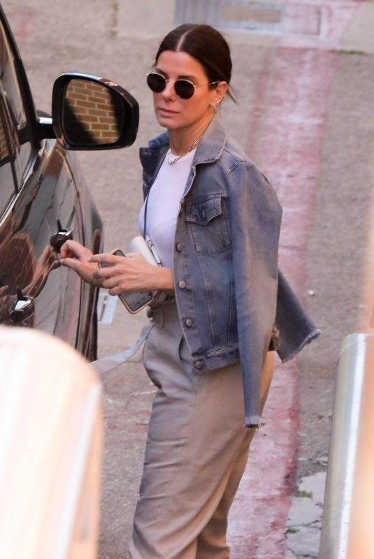SANDRA BULLOCK Leaves a Dentist Office in Beverly Hills 04/09/2019