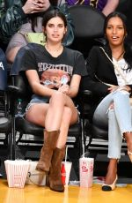SARA SAMPAIO and JASMINE TOOKES at LA Lakers vs Portland Trail Blazer Game in Los Angeles 04/09/2019