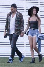 SARA SAMPAIO and Oliver Ripley Out at Coachella 04/13/2019
