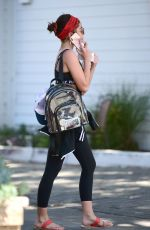 SARAH HYLAND Leaves a Gym in Los Angeles 04/10/2019