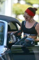 SARAH HYLAND Leaves a Gym in Los Angeles 04/10/2019