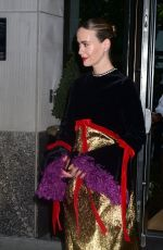 SARAH PAULSON Leaves Whitby Hotel in New York 04/03/2019