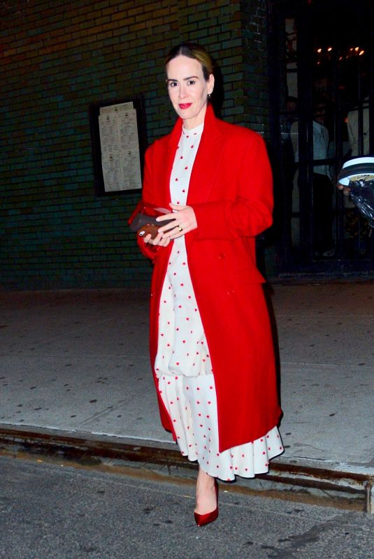 SARAH PAULSON Night Out in New York 04/04/2019
