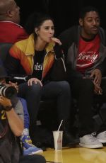 SARAH SILVERMAN at LA Lakers vs Golden State Warriors Game in Los Angeles 04/04/2019
