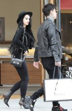 SARAYA-JADE BEVIS Out Shopping in Beverly Hills 04/03/2019