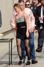 SCARLETT JOHANSSON Arrives at Jimmy Kimmel Live! in Hollywood 04/08/2019