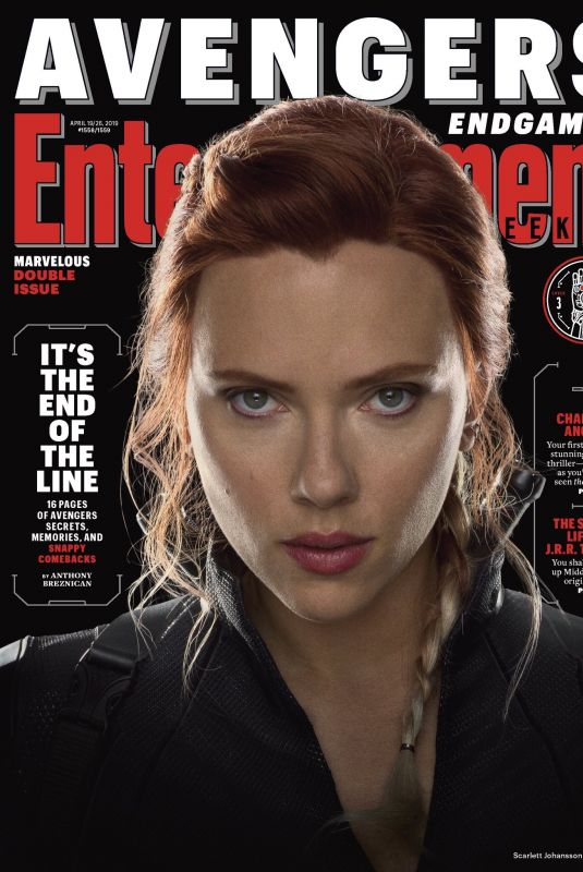 SCARLETT JOHANSSON on the Cover of Entertainment Weekly Magazine, April 2019