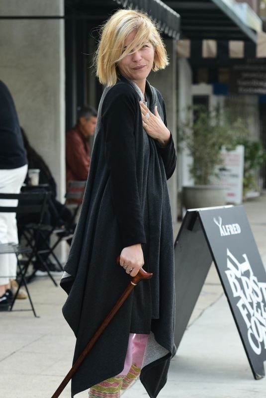 SELMA BLAIR Leaves Alfred's Coffee in Studio City 04/26/2019
