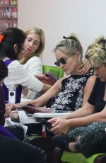 SHARON STONE at a Salon in Beverly Hills 08/04/2019