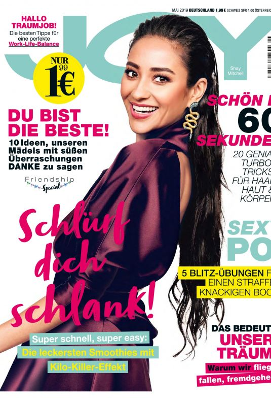 SHAY MITCHELL in Joy Magazine, Germany May 2019