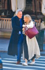 SIENNA MILLER Out with Her Father in New York 04/03/2019