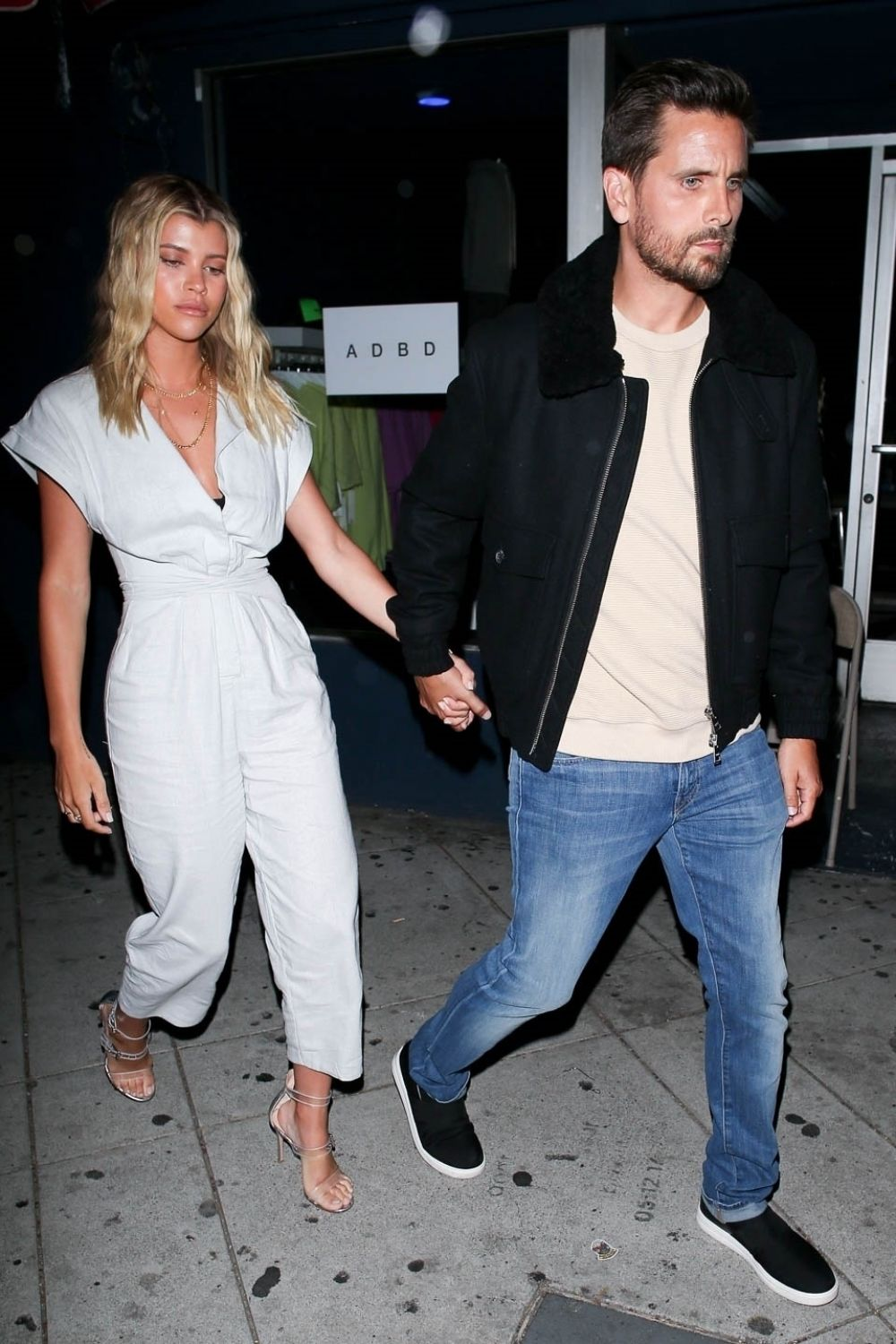 SOFIA RICHIE and Scott Disick at No Name Restaurant in Los ...
