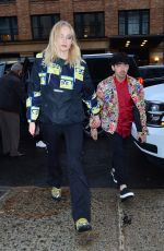 SOPHIE TURNER and Joe Jonas Arrives at Their Apartment in New York 04/05/2019