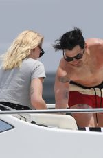 SOPHIE TURNER and Joe Jonas at a Boat in Cabo San Lucas 04/18/2019
