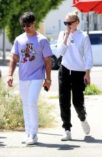 SOPHIE TURNER and Joe Jonas Out for Coffee in West Hollywood 04/23/2019