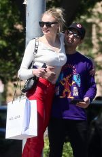 SOPHIE TURNER and Joe Jonas Out Shopping in Hollywood 04/13/2019