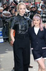 SOPHIE TURNER and MAISIE WILLIAMS Leaves Good Morning America in New York 04/02/2019
