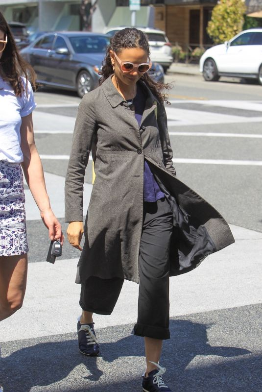 THANDIE NEWTON Out Shopping in Beverly Hills 04/01/2019