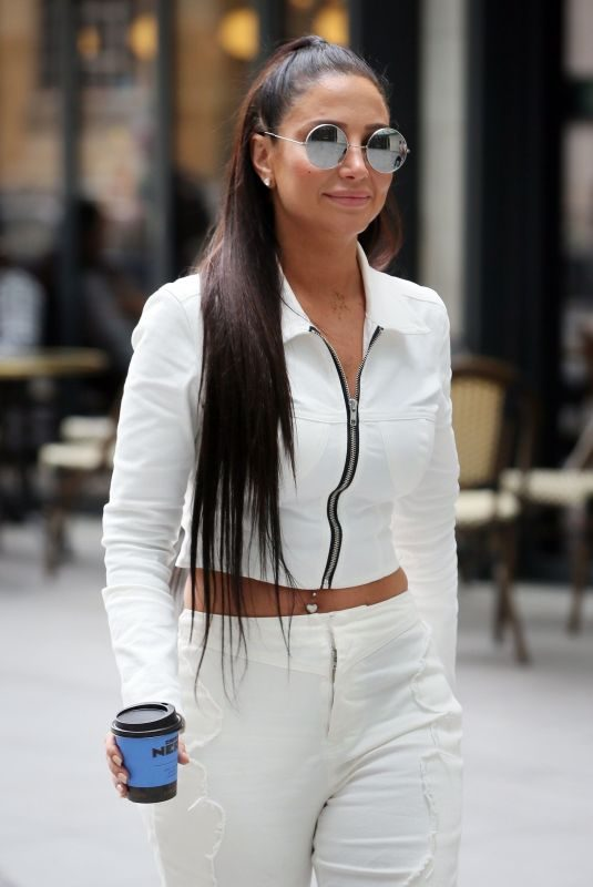 TULISA CONTOSTAVLOS Arrives at BBC Radio to Promotes Her New Single 'Daddy' in London 04/23/2019