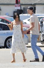 VANESSA HUDGENS and Austin Butler at Blue Bottle Coffee in Los Angeles 04/10/2019