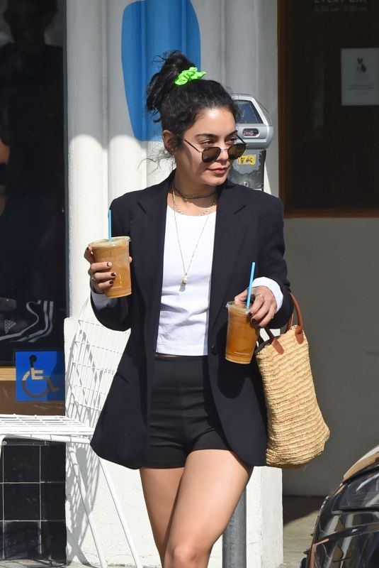 VANESSA HUDGENS at a Gas Station in Los Angeles 04/02/2019