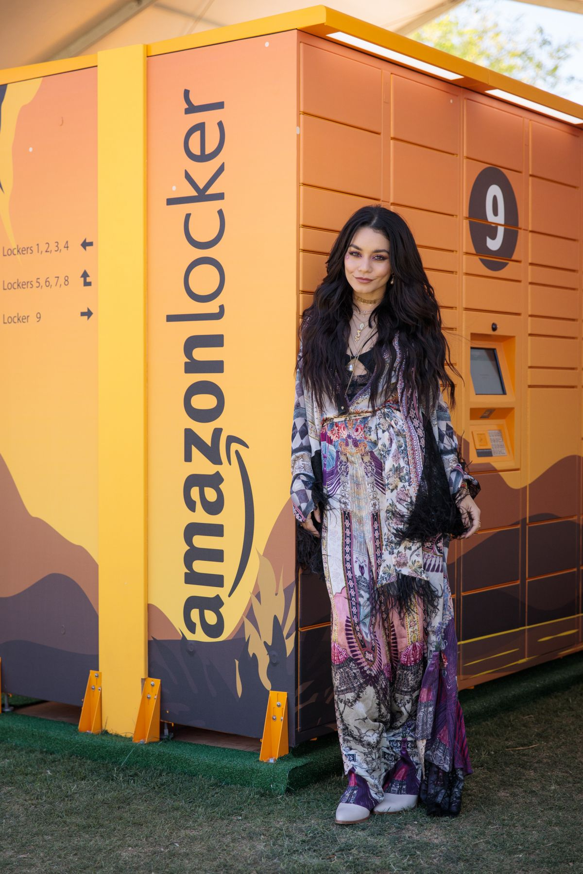 VANESSA HUDGENS at Amazon Lockers at Coachella Valley Music